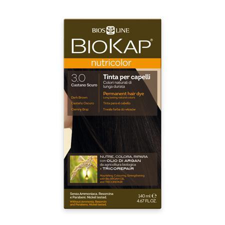 Купить Стойкая натуральная крем-краска для волос biokap nutricolor (цвет темно-коричневый) biosline