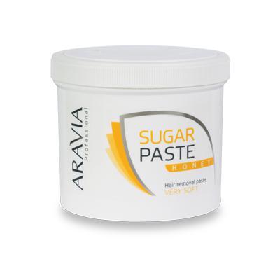 Купить Сахарная паста для депиляции медовая очень мягкой консистенции aravia professional