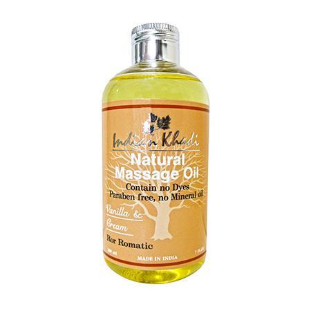 Купить Романтическое массажное масло с ванилью indian khadi