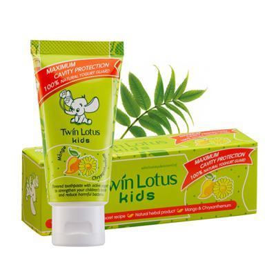 Купить Детская зубная паста kids mango & chrysanthemum манго и хризантема twin lotus