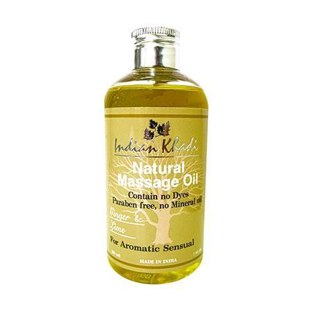 Купить Освежающее массажное масло с лимоном и имбирем indian khadi