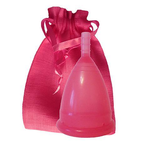 Купить Темно-розовая менструальная чаша в мешочке (размер l) cuplee