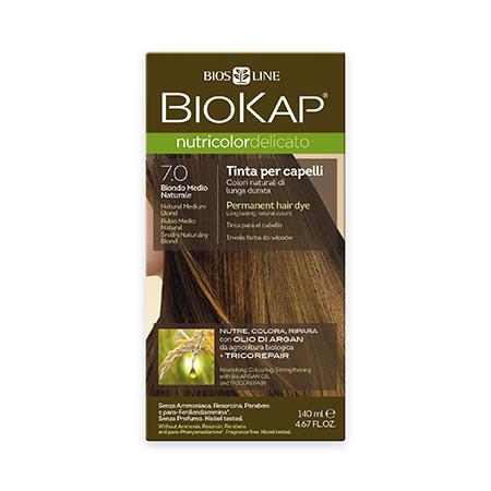 Купить Стойкая крем-краска для чувствительных волос biokap nutricolor delicato (цвет средне-русый) biosline