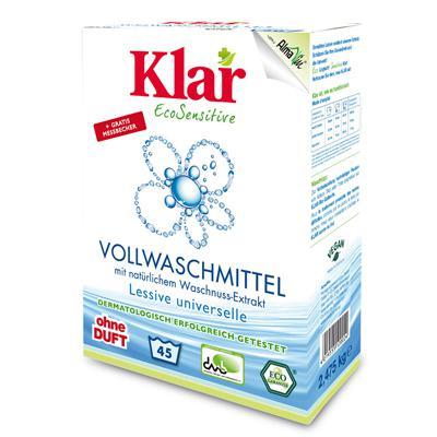 Купить Стиральный порошок на мыльном орехе для белого и прочноокрашенного белья гипоаллергенный (2,475 кг) klar
