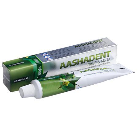 Купить Зубная паста лавр-мята  aasha herbals