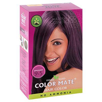 Купить Натуральная краска для волос на основе хны color mate  (тон 9.5, красное дерево) без аммиака