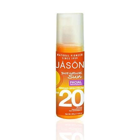Купить Натуральное солнцезащитное средство для лица spf20, jason