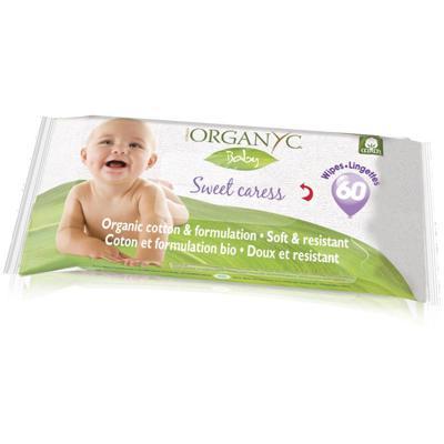 Купить Детские влажные салфетки из органического хлопка organyc
