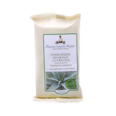 Купить Влажные салфетки универсальные с экстрактом столетника 10шт. рецепты бабушки агафьи