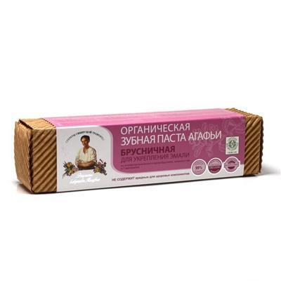 Купить Органическая зубная паста для укрепления эмали брусничная рецепты бабушки агафьи