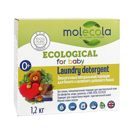 Купить Экологичный стиральный порошок для белого и цветного детского белья molecola