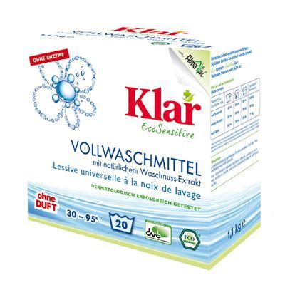 Купить Стиральный порошок на мыльном орехе для белого и прочноокрашенного белья гипоаллергенный (1,1 кг) klar