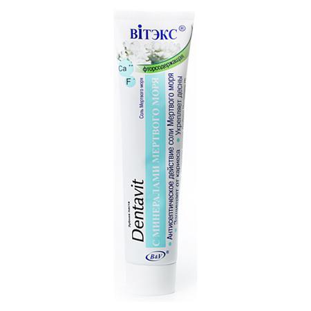 Купить Зубная паста f с минералами мертвого моря белита - витекс