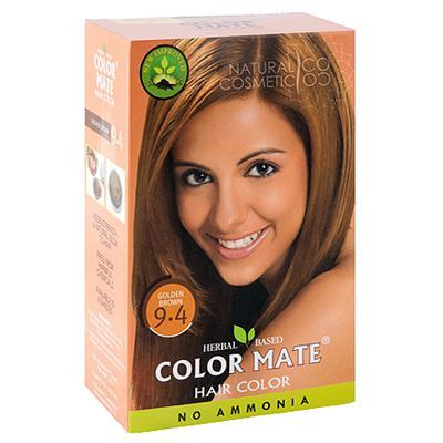 Купить Натуральная краска для волос на основе хны color mate (тон 9.4, золотисто-коричневый) без аммиака