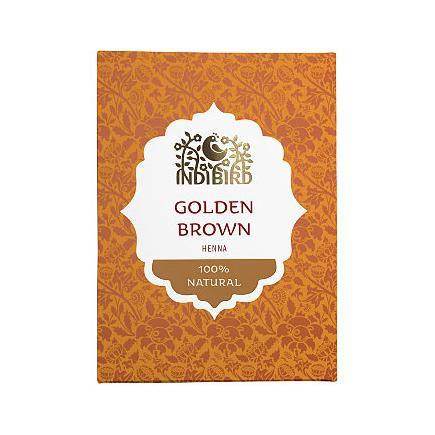 Купить Аюрведическая краска на основе индийской хны золотисто-коричневая амрита