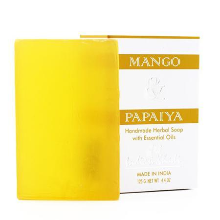 Купить Нежное мыло с манго и папайей indian khadi
