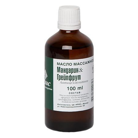 Купить Массажное масло мандарин-грейпфрут iris