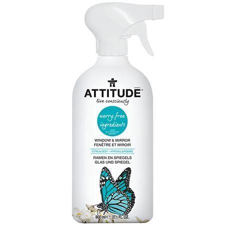 Купить Экологический очиститель для стекол и зеркал (спрей) attitude