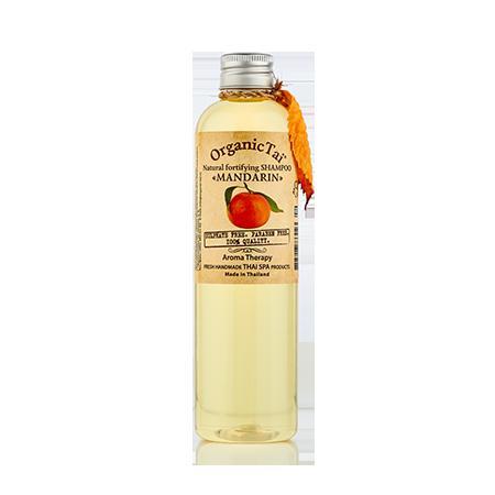 Купить Натуральный укрепляющий шампунь  для волос  «мандарин» organic tai