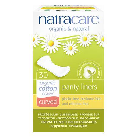 Купить Натуральные женские прокладки panty liners curved natracare