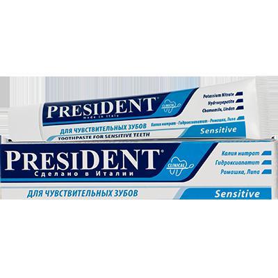 Купить Зубная паста president для чувствительных зубов