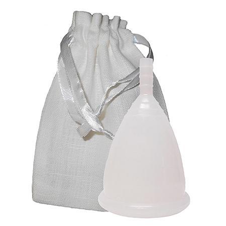 Купить Белая менструальная чаша в мешочке (размер l) cuplee