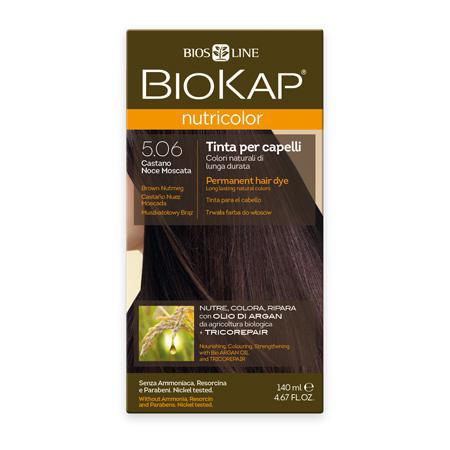 Купить Стойкая натуральная крем-краска для волос biokap nutricolor (цвет коричневый/мускатный орех) biosline
