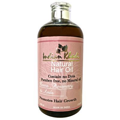 Купить Восстанавливающее масло для волос с амлой, хной и розмарином indian khadi