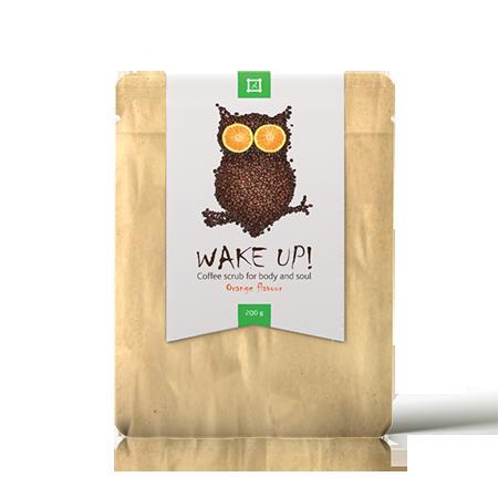 Купить Скраб для лица и тела  wake up coffee scrub orange almea