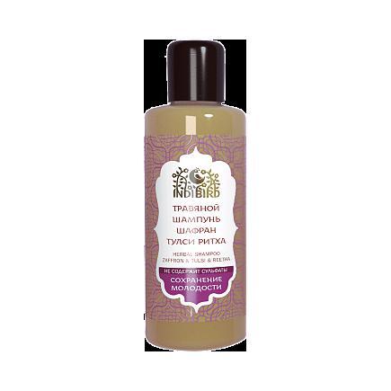 Купить Травяной аюрведический шампунь шафран&тулси&ритха для объема