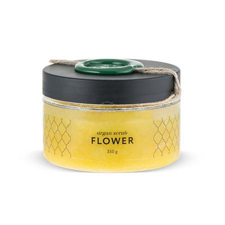 Купить Аргановый скраб солевой цветочный huilargan