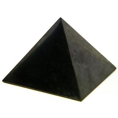 Купить Пирамида из шунгита полированная 4 см шунгит