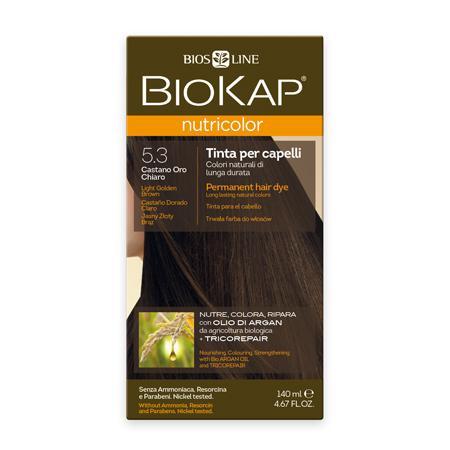 Купить Стойкая натуральная крем-краска для волос biokap nutricolor (цвет светлый коричнево-золотистый) biosline