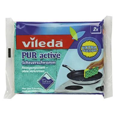 Купить Губка для плит пур-актив  2 шт vileda