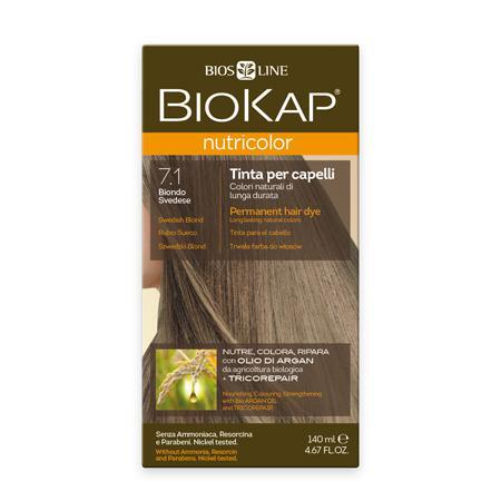 Купить Стойкая натуральная крем-краска для волос biokap nutricolor (цвет шведский блондин пепельный) biosline