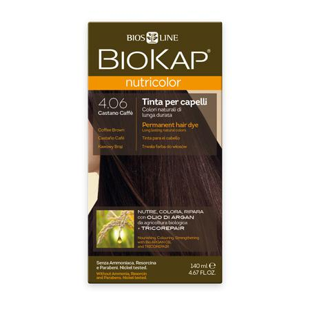 Купить Стойкая натуральная крем-краска для волос biokap nutricolor (цвет кофейно-коричневый) biosline