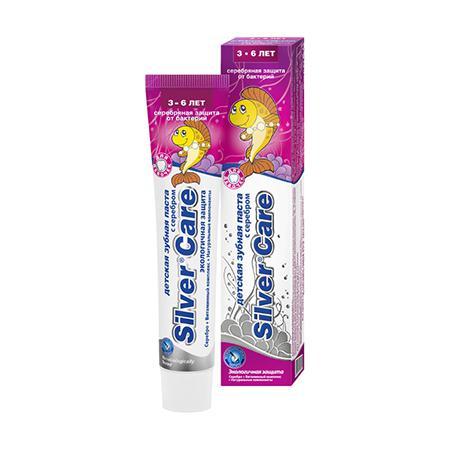 Купить Зубная паста с серебром для девочек от 3 до 6 лет silver care
