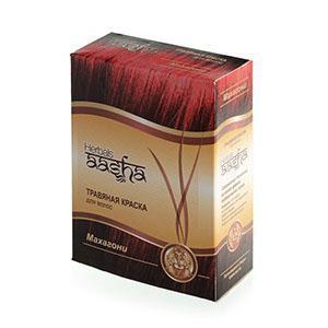 Купить Травяная краска для волос на основе индийской хны (цвет махагони) ааша