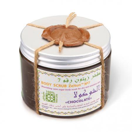 Купить Питательный сахарный скраб для сухой и чувствительной кожи «шоколад» зейтун