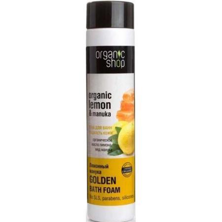 Купить Пена для ванн, для гладкости кожи «лимонный манука» organic shop