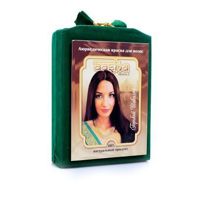 Купить Травяная краска для волос с лечебным эффектом (вишневое вино) ааша