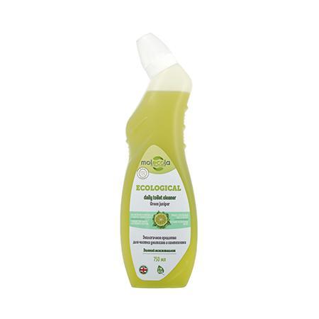 Купить Экологичное средство для чистки унитазов и сантехники зеленый можжевельник molecola