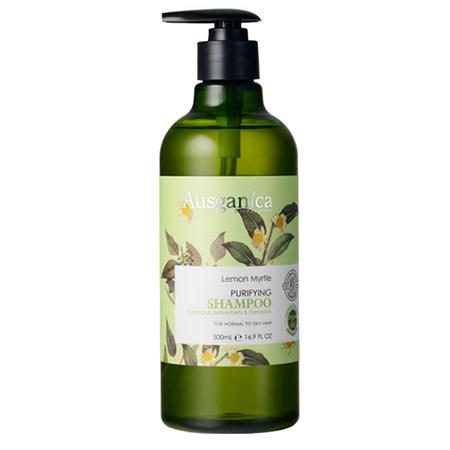 Купить Очищающий шампунь для жирных волос лимонный мирт 500 мл ausganica