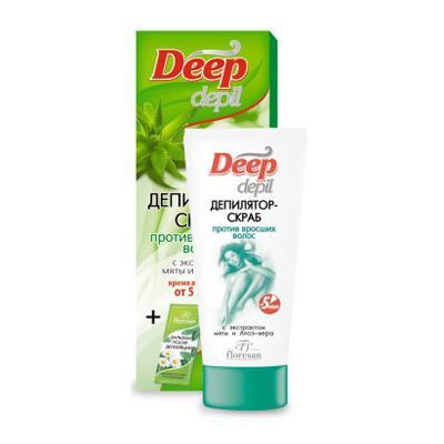 Купить Депилятор – скраб против вросших волос с экстрактом мяты и алоэ вера floresan