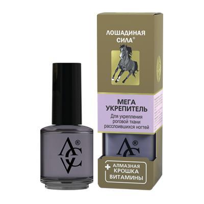 Купить Мега укрепитель для ногтей с алмазной крошкой, кальцием, витаминами а и в5 «лошадиная сила» хорс форс