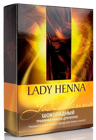 Купить Травяная краска для волос, цвет шоколадный lady henna aasha