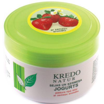 Купить Kredo natur йогурт для лица и тела с ароматом клубники dzintars