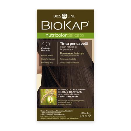 Купить Стойкая крем-краска для чувствительных волос biokap nutricolor delicato (цвет коричневый) biosline