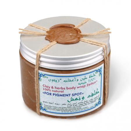 Купить Натуральное обертывание от пигментных пятен зейтун