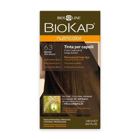 Купить Стойкая натуральная крем-краска для волос biokap nutricolor (цвет темно-золотистый блондин) biosline